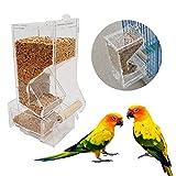 Mangiatoia per gabbie per uccelli, Alimenti per animali in acrilico alla moda Alimentatore per semi Alimentatore No Mess Alimentatore automatico per pappagalli con pesce persico per pappagallino pappa