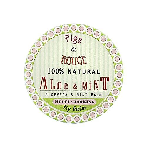 Figs & Rouge Baume pour les Lèvres Boîte Métal Parfum Aloe et Mint 17 ml