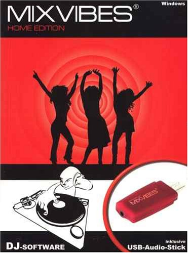 Mixvibes Home Edition mit USB Audio Adapter. CD-ROM Windows XP/2000/ME/98