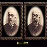 WSCOLL 3D Gesichtswechsel Ghost Frame Horror Halloween Dekoration Requisiten Bilder Frames Gesichtswechsel Ghost Halloween Party Decor MB