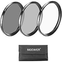 Neewer 52mm Filtro Lente Cámara Kit: Filtro UV, CPL, Filtro ND4 y Bolsa de Transporte para Nikon D3100 D5200 D5100 D5000, Canon EOS M Compact, PENTAX K-5