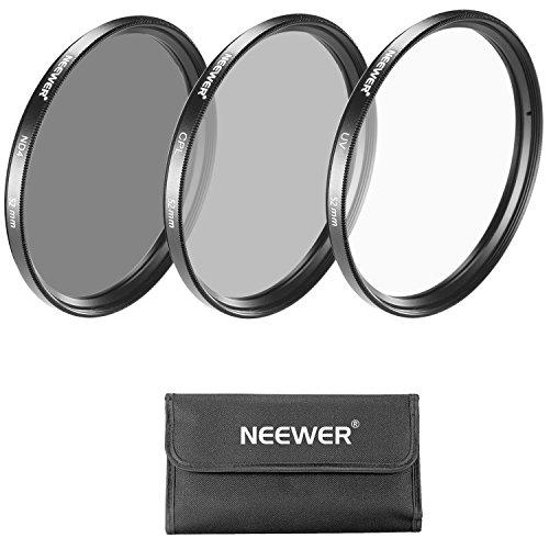 Galleria fotografica Neewer 52mm Kit di Filtri per Obiettivo: Filtro UV + Filtro CPL + Filtro ND4 + Custodia per Filtri + Stoffa di Pulizia per Fotocamere NIKON (D3200 D3100 D3000 D5200 D5100 D5000), Fotocamere Compatte CANON EOS M & PENTAX (K-5, K-5IIs, K-30, K-50)
