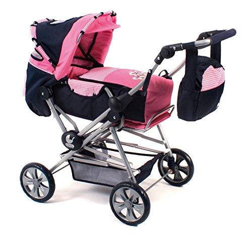 Bayer Chic 2000 562 46 - Super-Kombi Road Star, Pink Checker, Puppenwagen