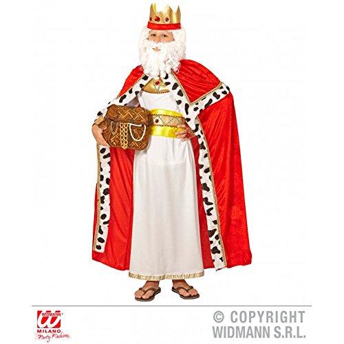 Kostümzubehör Königsumhang mit Königskrone für Kinder / Königinnenumhang / Kinderumhang / Royal King Cape Gr. 158 ( 11 - 13 Jahre )