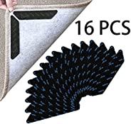 Rug Gripper, Upgraded Washable Removable Non Slip Rug Grippers,16 PCS Double Sided Anti Curling Corner Carpet