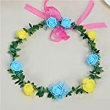 Suma de la chica fue adornado con guirnaldas guirnalda postizo ornamentos florales beachfront Resort coreano hairbands flores finas ,18*13cm,8