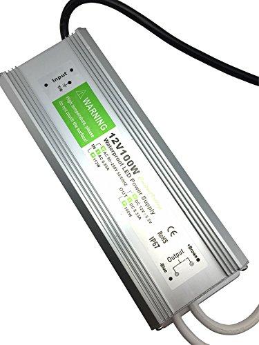 class II plactics case 12V 100W LED Power Supply IP67 TUV GLP GPV-100-12