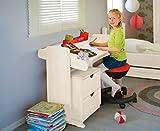 BioKinder 23215 Julia Schreibtisch Kinderschreibtisch verstellbar aus Massivholz Kiefer weiß lasiert