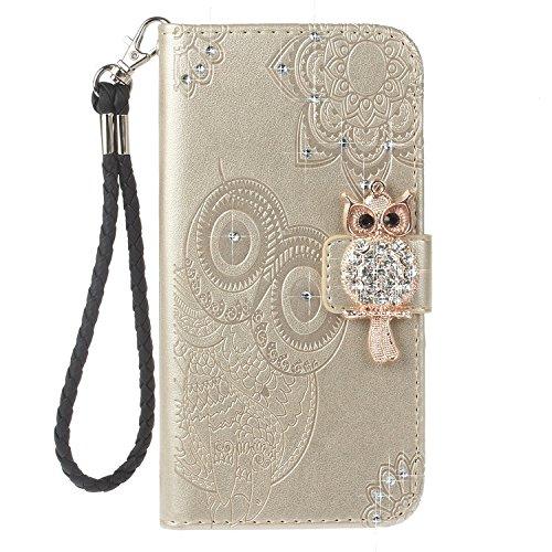 iPhone X Cover, Case in Pelle PU di Lusso Portafoglio con Fessure di carta Cover Protettiva per iPhone X / iPhone 10 oro