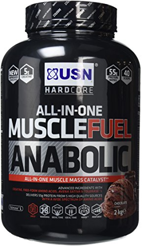 USN Muscle Fuel Anabolic Lean Muscle Gain Shake Powder, 2 kg - Chocolate Test