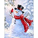 samLIKE Clearance !!!  Interesting Christmas Santa Claus Snowman Wall Decor, 5D Diamond Embroidery Painting Kits Cross Stitch for Adults (B)