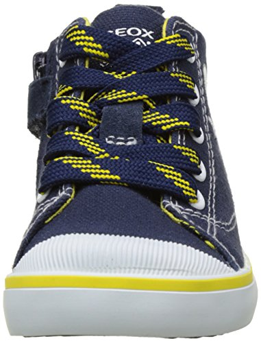 Geox B Kiwi Boy B, Chaussures Marche Bébé Garçon Bleu (NAVY/YELLOWC0657)