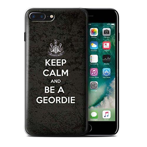 Officiel Newcastle United FC Coque / Etui pour Apple iPhone 7 Plus / Geordie Design / NUFC Keep Calm Collection Geordie