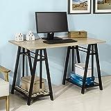 SoBuy®Mesa auxiliar de altura ajustable de 72 a 117 cm,Consola mesa madera escritorio,mesa ordenador portatil,FWT32-N,ES