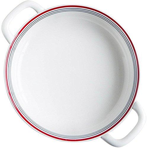 Warm zjyhpm Europäische Keramik Doppel-Ohr-Fach Haushalt 8-Zoll-Western-Essen Backen Backblech