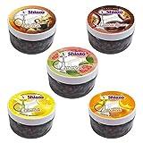 Ectxo SHIAZO - Pierre à Chicha à Vapeur Foyers, 5 variétés de granules de Pierre Mixte Pack, (sans Tabac, sans Nicotine, Saveur Intense)