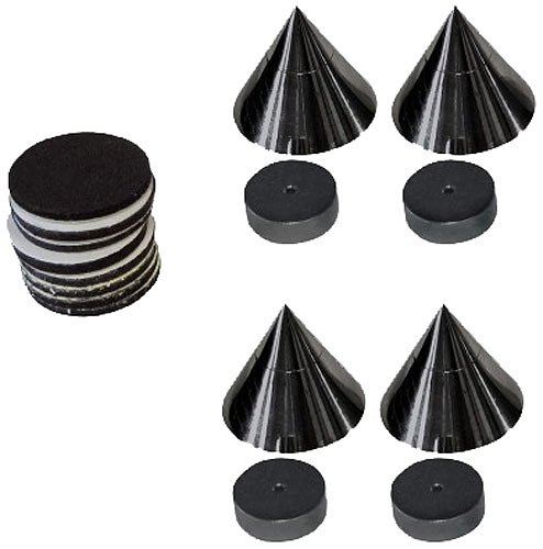 Dynavox 4250019109980 2 Set - Spikes Dynavox Sub-Watt-Absorber, 4er Set/schwarz