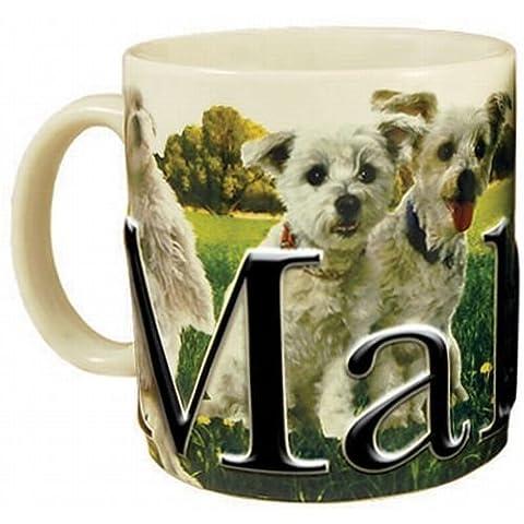 Americaware, My Pet Mug, Best Friend Series, Maltese, Raised Lettering, 18 oz. by Americaware