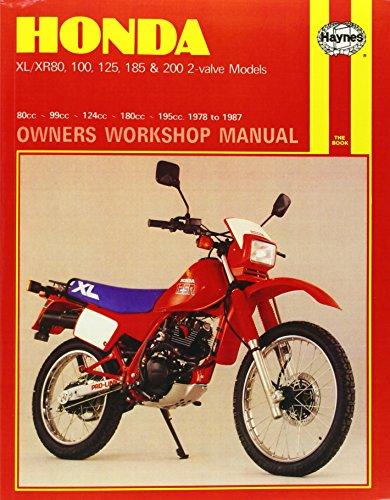 Honda Xl/Xr 80, 100, 125, 185 & 200 2-Valve Models (78 - 87) (Motorcycle Manuals) por Haynes Publishing