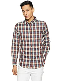 Buffalo by FBB Men's Checkered Regular Fit Casual Shirt