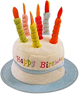HAPPY BIRTHDAY HAT NOVELTY CAKE PRESENT GIFT IDEA BLUE