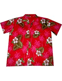 Chemise Hawaienne Flowers of Hawaii (red) taille 2XL - M