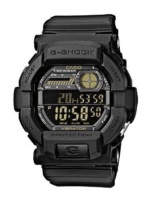 Casio GD-350-1BER con correa de resina, color negro