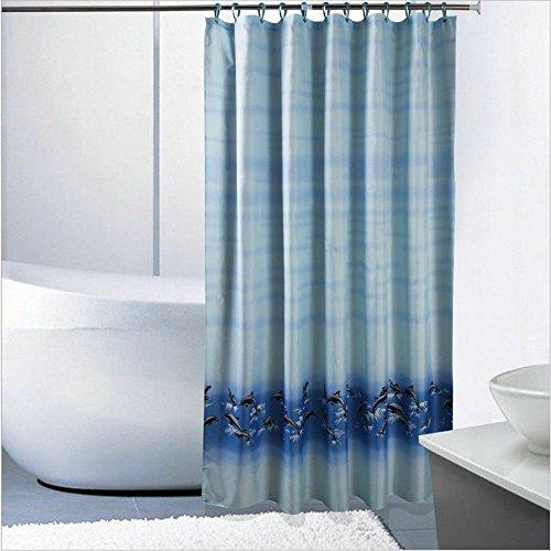 JYJSYM Dusche Vorhang, Delphin duschvorhang, Bad, Wasserdicht, плесени und Verdickung (Bad Vorhang 180x200cm,Ein,180-200