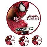 Tortenaufleger Geburtstag Tortenbild Zuckerbild Oblate Motiv: Marvel Spiderman 02 (Zuckerpapier)