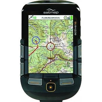 SatMap GPS Gerät Active 10 PLUS & Deutschland Gesamt Karte 1:50000