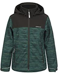 ICEPEAK Niños chaqueta Romy Jr, otoño/invierno, infantil, color verde hoja, tamaño 164