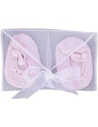 Sucre D'Orge - shoes - Féminin - 1 - chaussons crochet - Taille UNIQUE - Couleur rose