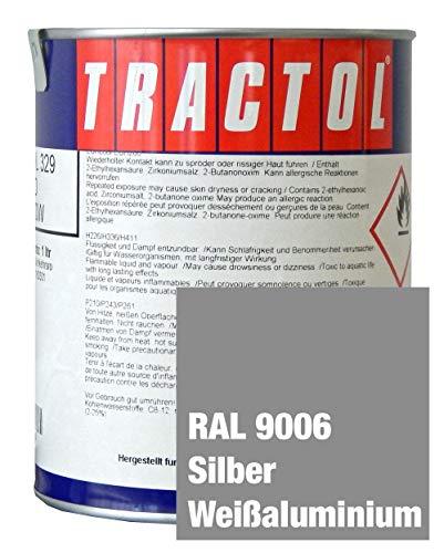 Tractol Schlepperlack Traktoren Lack RAL 9006 silber / weissaluminium1 ltr.