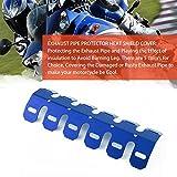 Universal Aluminium Motorrad Auspuff Schalldämpfer Hitzeschild Abdeckung (Farbe: Blau)