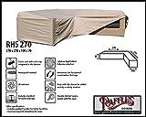 RHS270 Loungemöbel Abdeckhaube für L-Form, passt am besten am Set von max.265 x 265 cm. Abdeckung für Lounge Eckset, Schutzhülle in L-Form für Lounge Sets, Schutzplane, Regenschutz Ecklounge