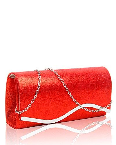 Redfox, Damen Clutch Rot