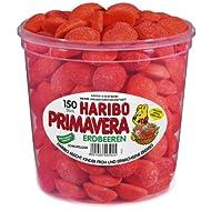 Haribo Primavera Fraises, 150 pièces, 1050g Barquette hermétique
