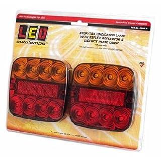 2x LED 12V Trailer Lichter One mit Kennzeichenbeleuchtung (Paar) 99ARL LED autolamp PT keine. lmx1747