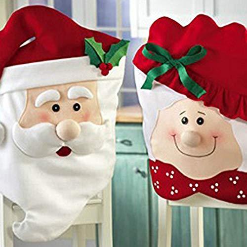 Wansan Weihnachtsmann Weihnachten Stuhl Zurück Abdeckung Dekorationen Weihnachten Xmas Party Tisch Dekoration Weihnachten Party Supplies (Dame)