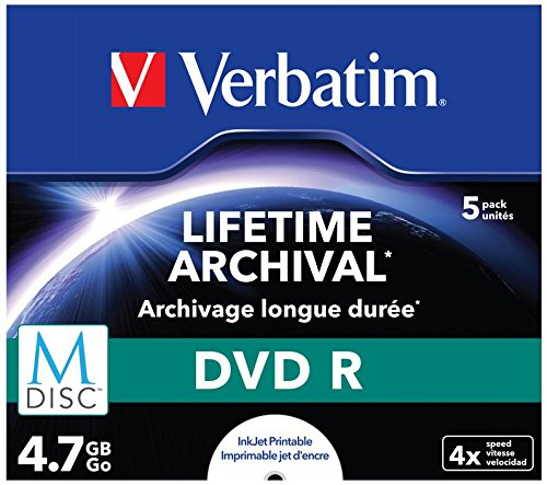 Verbatim 43821 M-Disc 4x DVD-R - 5er Pack Jewel Case