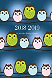 2018 2019 15 Months Daily Planner: Small Mini Calendar To Fit Purse & Pocket; Baby Owl Design; Monthly & Weekly Goals Journal With Quotes & Address Book; Dates From Oct 2018 - Dec 2019