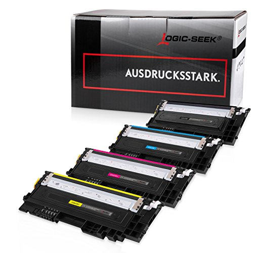 4 Logic-Seek XL Toner kompatibel zu Samsung CLT-P404C /ELS für Samsung Xpress SL-C480W C480FW C480FN C480 Xpress SL-C430 C430W