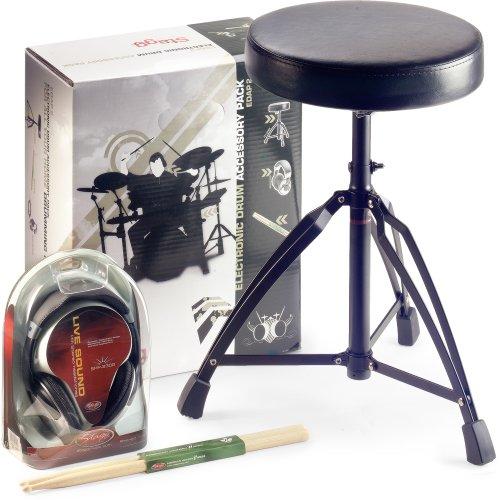 Stagg EDAP 2 Set mit Schlagzeug-Hocker/Kopfhörer/Drumstick