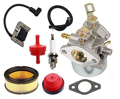 oxoxo Vergaser Carb Kit mit Zündspule Air Fuel Filter für Tecumseh 8HP 9HP 10HP HMSK80hmsk90lh318sa ersetzen 640349640052640054