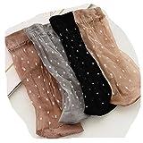 Distinct® Frauen Sommer Kurze ultradünne Kristall Seide Socken - 4 Paar