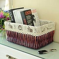 cestello/ rattan scatola di immagazzinaggio/Cestino di detriti desktop snack in cucina-A 27x17cm(11x7inch)