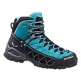 Salewa Damen Alp Flow Mid Gore-tex Bergschuh Trekking-& Wanderstiefel, Türkis (Venom/Bright Acqua 8457), 40 EU