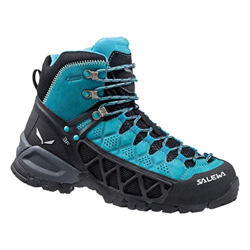 Salewa Damen Alp Flow Mid Gore-Tex Bergschuh Trekking-& Wanderstiefel, Türkis (Venom/Bright Acqua 8457), 39 EU