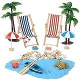 YIKANWEN Deko-Miniatur-Strand, Strand-Mikrolandschaft, Mini-Strand-Accessoires, für Sandkasten,...
