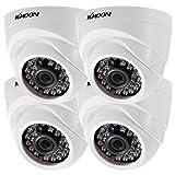 KKmoon 4* 1080P 2000TVL AHD Domo IR CCTV Cámara + 4* 60ft Monitoreo Cable Soporte infrarrojos Night Vision 24pcs lámparas infrarrojos 1/2,9pulgadas CMOS para la seguridad en casa